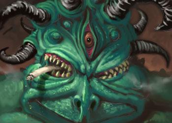 Horny Smoking Ogre